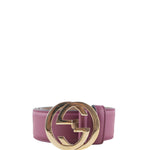 GUCCI Leather belt with interlocking G 370543-AP00G