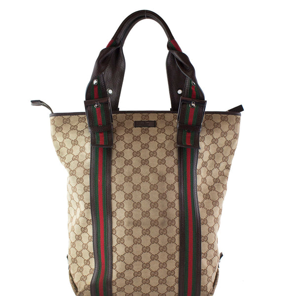 ecf0806869b3 Gucci GG Canvas Web Tote Bag – Vetoben