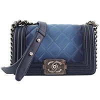 Chanel Navy Blue Small Boy Flap Bag