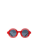CHANEL x Pharrell Williams Round 19mm Sunglasses Red