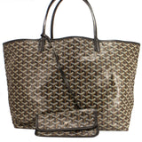Goyard Saint Louis Tote Goyardine GM Black