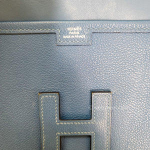 HERMES Swift Jige Elan 29 Clutch Bleu Agate