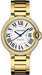 Cartier ballon blue 18k gold 42mm diamonds bazel.