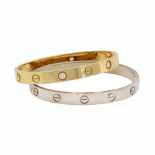 Load image into Gallery viewer, Cartier Love bracelet, 18K yelow gold with 4 diamonds 19CM