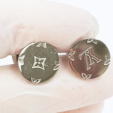 Load image into Gallery viewer, Auth LOUIS VUITTON Black sterling silver Champs Elysees Cufflinks