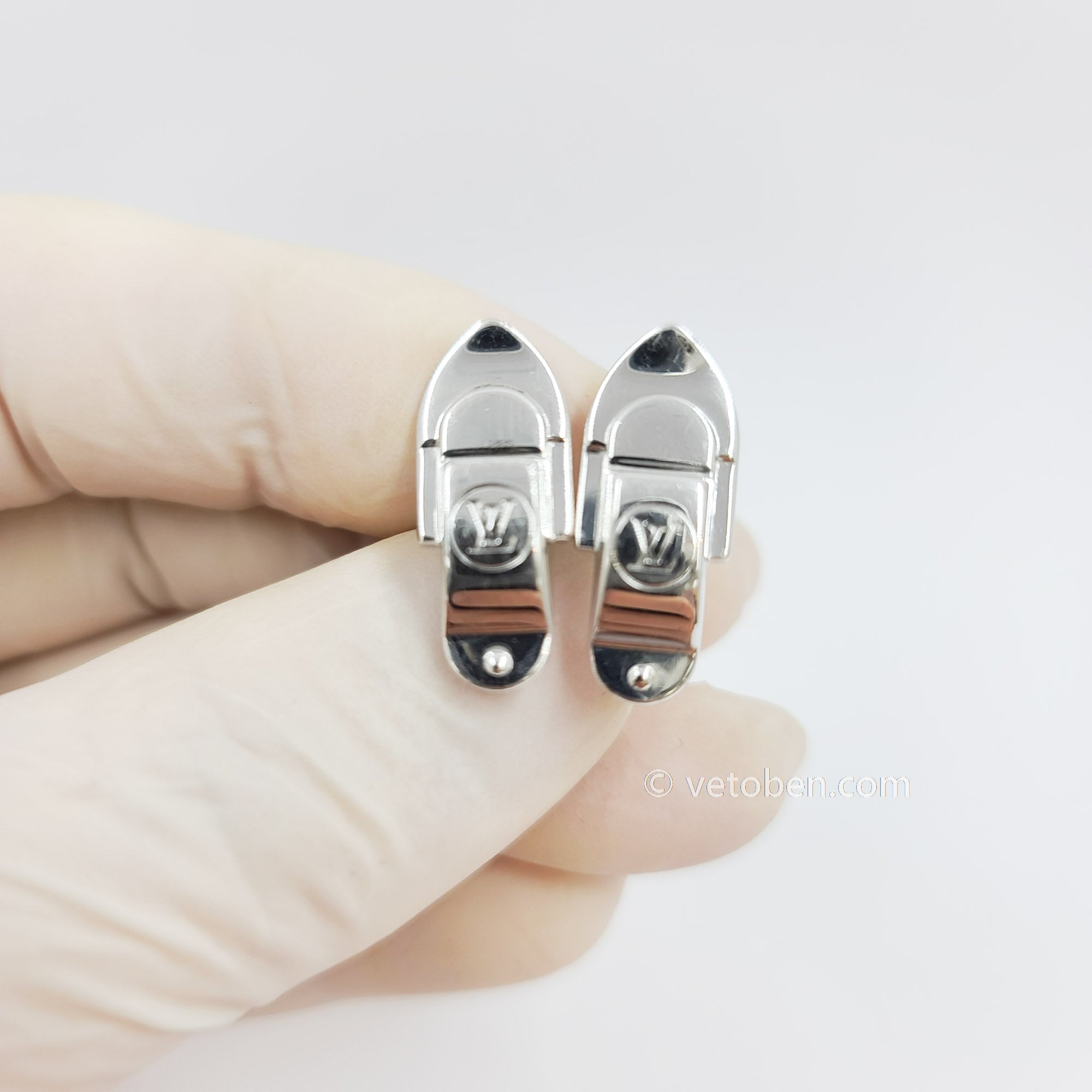 Authentic Louis Vuitton Cufflinks SV925 Silver