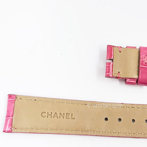 Authentic Chanel watch Alligator Lather band