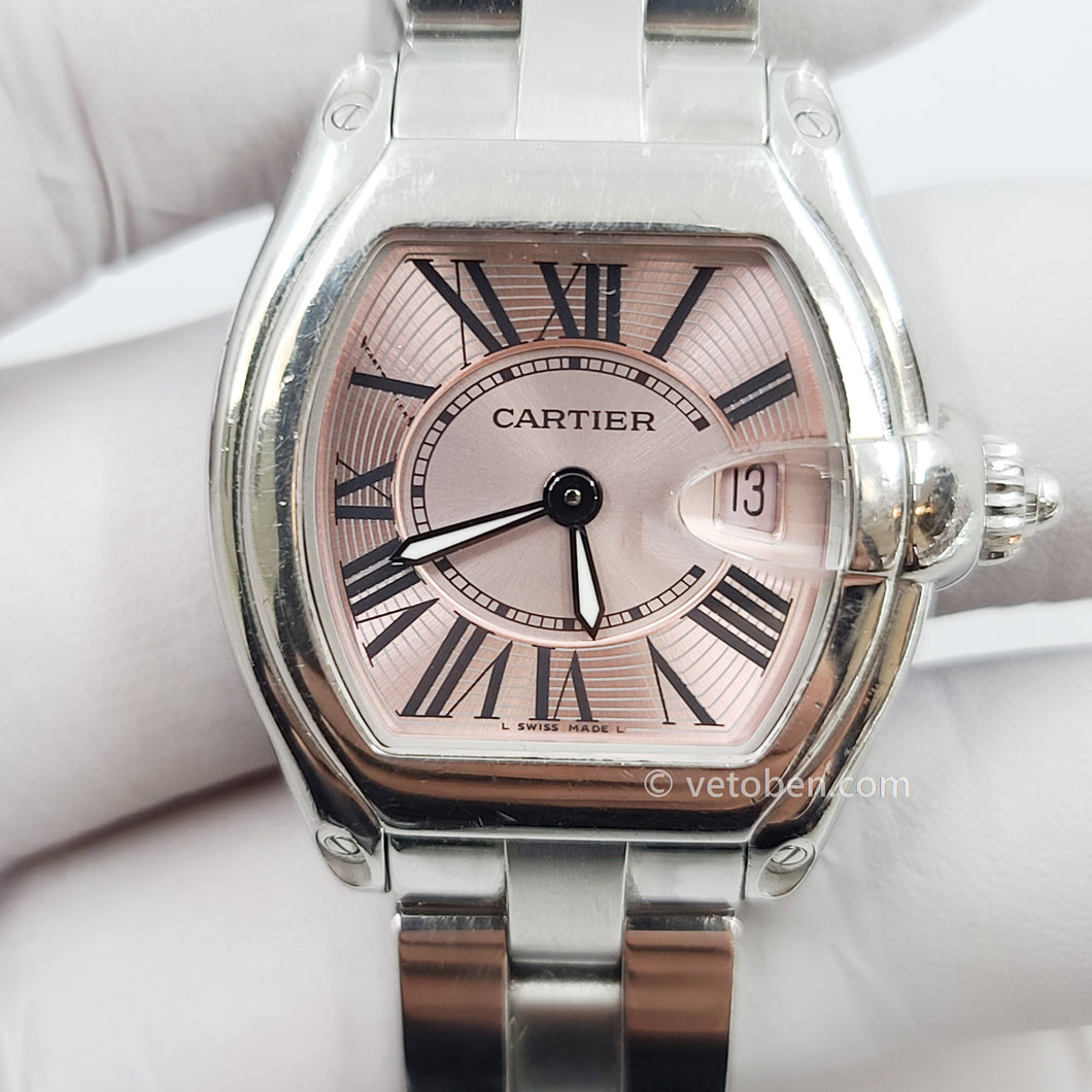 Cartier Roadster Stainless Steel Quartz 32mm Womens Watch