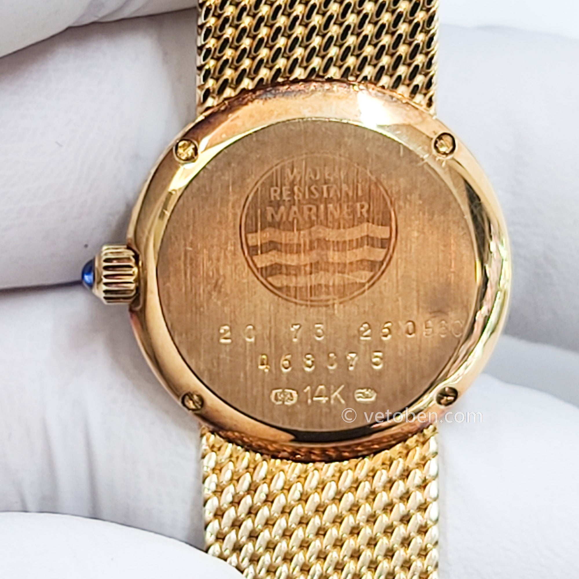 All 14k  gold Concord watch