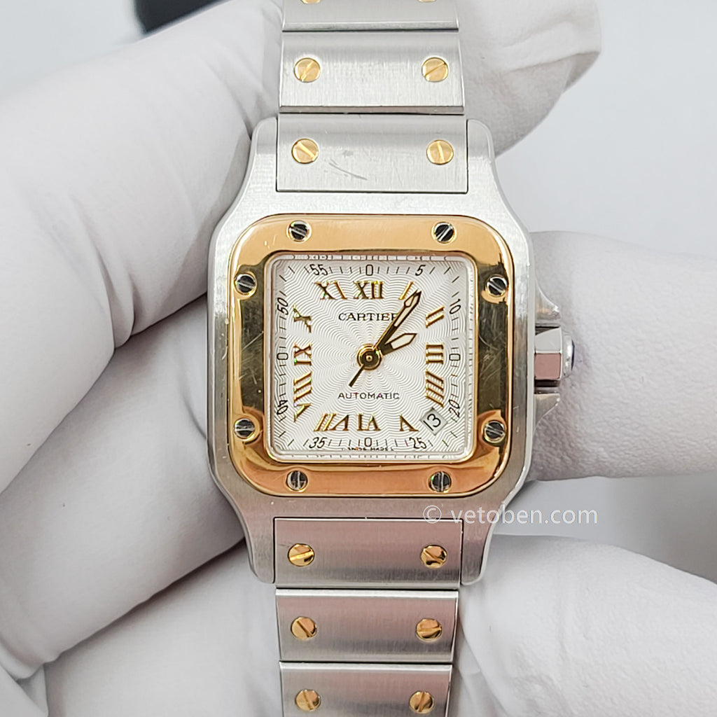 Copy of Certified Cartier Santos Galbee 2319 with Band and Silver Dial