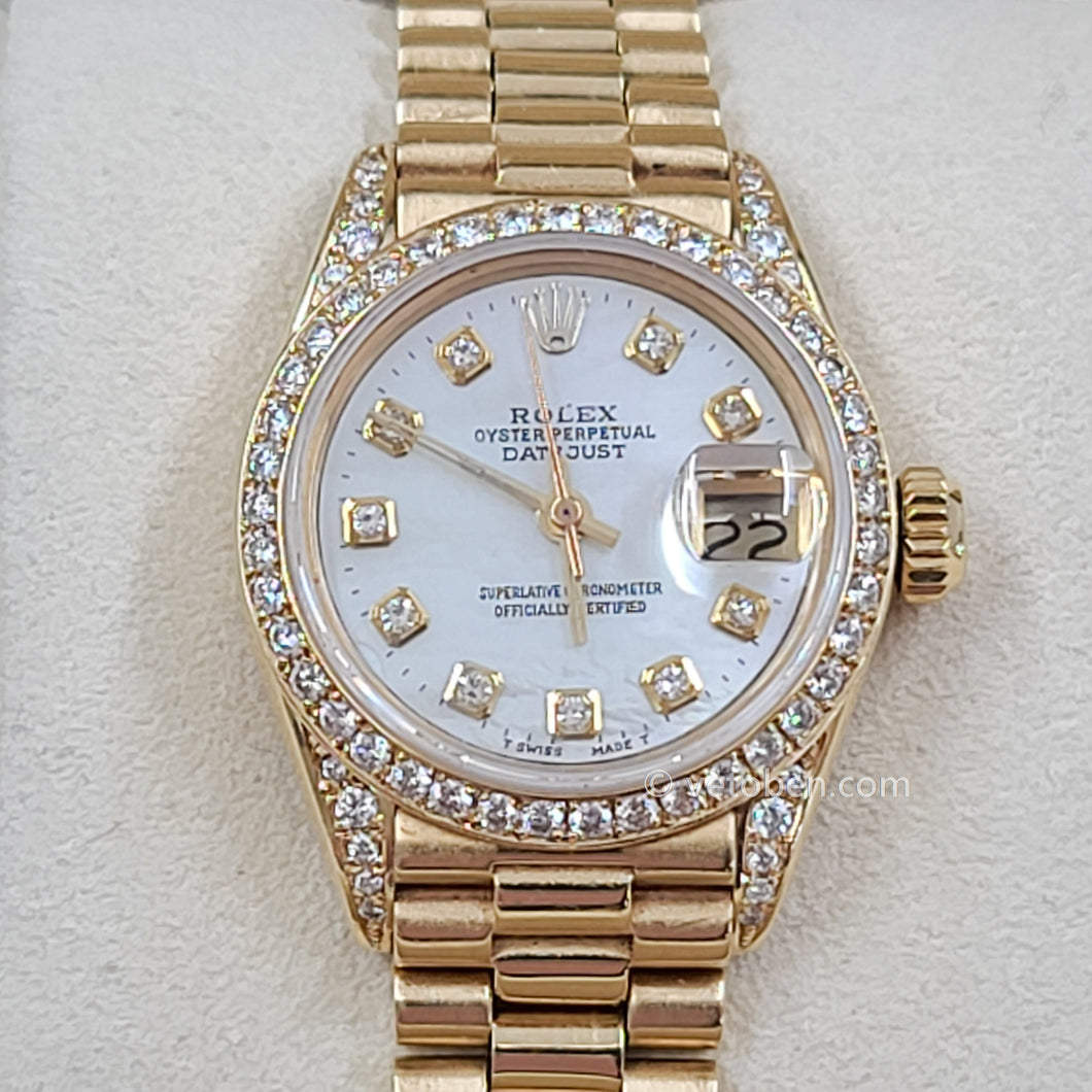 Rolex Datejust President 26MM Ladies 18k Yellow Gold Diamond