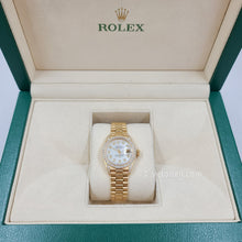Load image into Gallery viewer, Rolex Datejust President 26MM Ladies 18k Yellow Gold Diamond