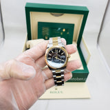 2021 New ROLEX 326933 STEEL AND GOLD SKY DWELLER 42 mm BLACK DIAL ANNUAL CALENDAR Free shipping.