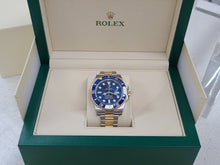 Load and play video in Gallery viewer, Rolex Submariner Steel and Gold Blue Dial Ceramic