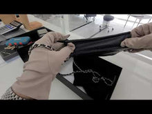 Load and play video in Gallery viewer, Chanel wallet on chain black caviar silver hardware