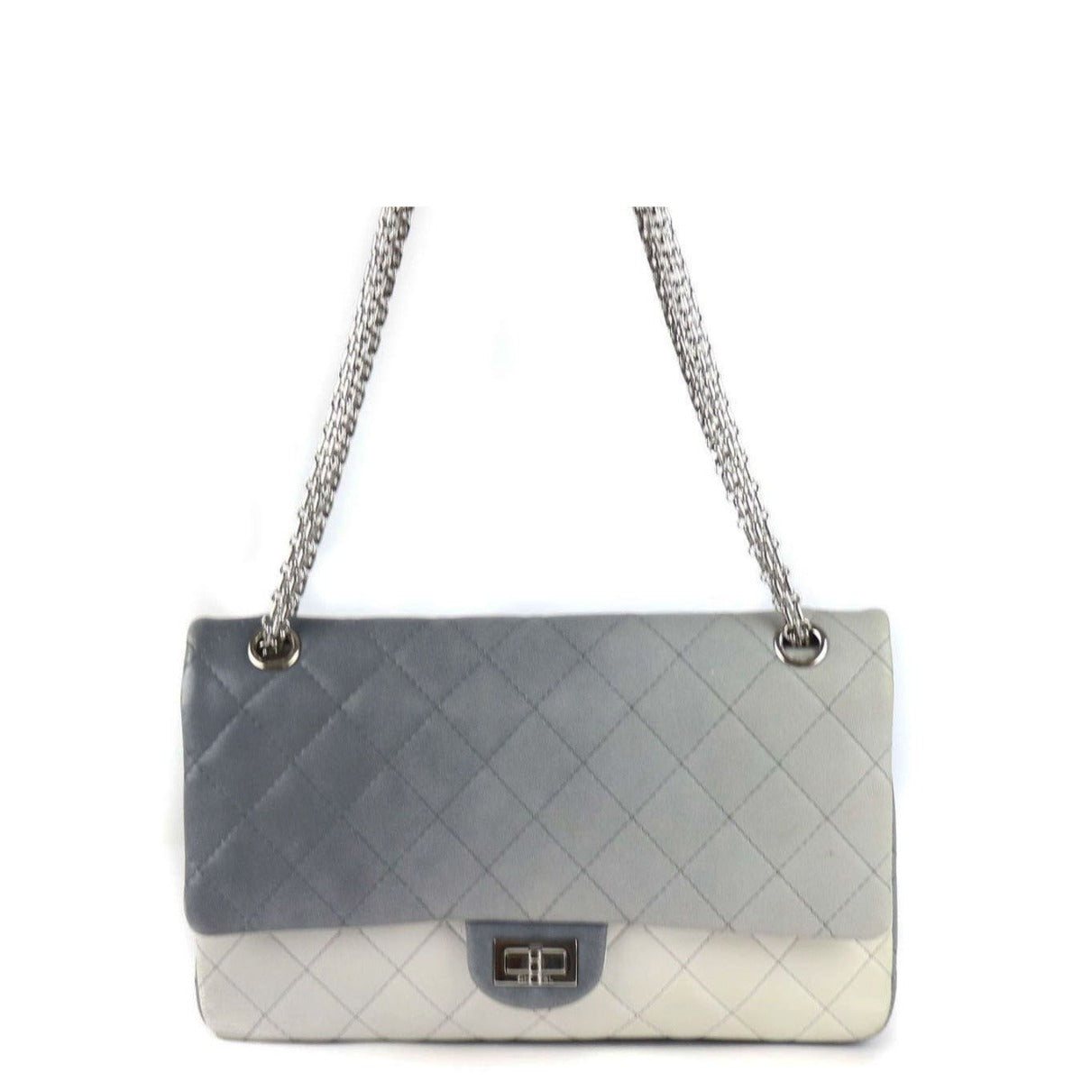729622a1c7ef63 CHANEL Two-Toned Washed Lambskin 2.55 Reissue Quilted Classic 226 Flap Bag