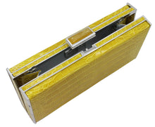 Load image into Gallery viewer, Judith Leiber Yellow East-West Rectangle Clutch Bag, Sapphire