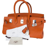 Hermès JPG Shoulder Birkin Birkin 42 Orange Clemence Leather Satchel