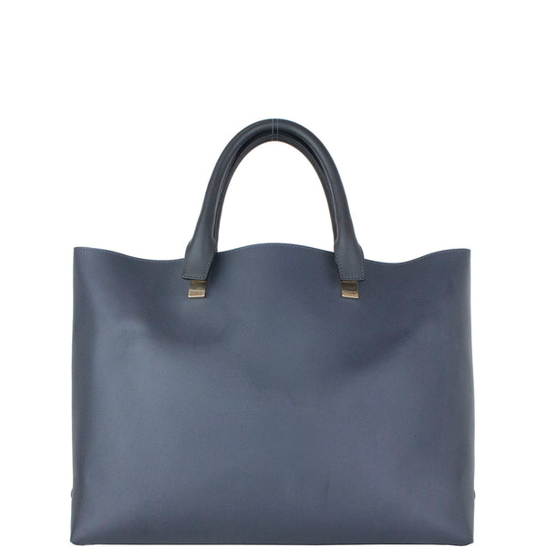 Chloé Baylee Two-tone 'baylee' Black/Grey Leather Tote