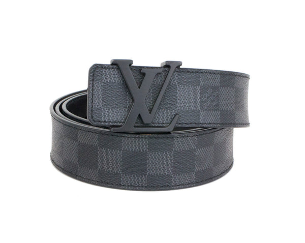 LOUIS VUITTON BLACK DAMIER INITIALES 40MM M9808