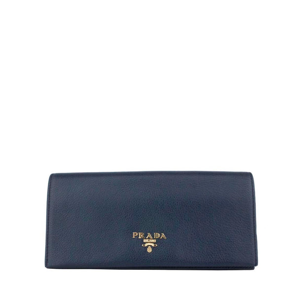 Prada Navy Blue Soft leather Wallet