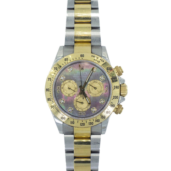 Rolex Daytona 2 Tone  Mother of Pearl Diamond Dial 116523