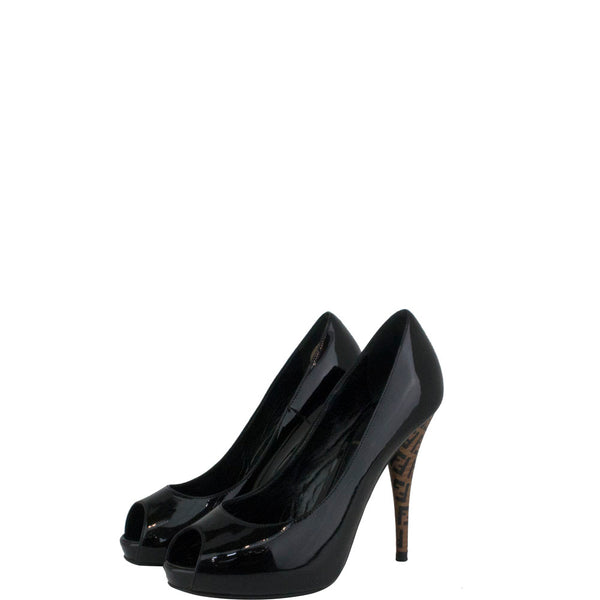 Fendi Black Decollete Vernice Nero Pumps