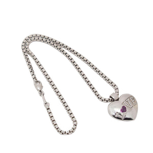 Chopard Happy Diamond Pink Sapphire Gold Love Pendant Necklace