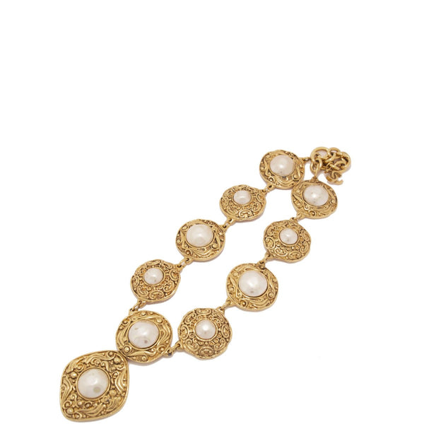 Chanel Vintage Gold Pearl Necklace