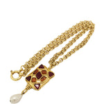 CHANEL VINTAGE GOLD GRIPOIX NECKLACE
