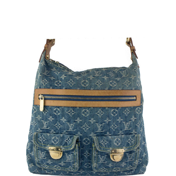 Louis Vuitton Baggy Gm Blue Denim Shoulder Bag