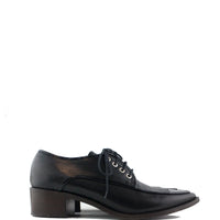 Chanel Black Oxford Flats Shoes