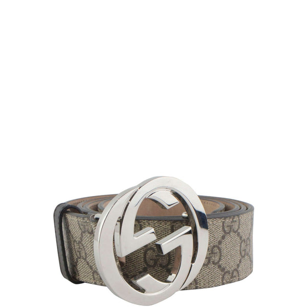 Gucci beige Signature leather belt