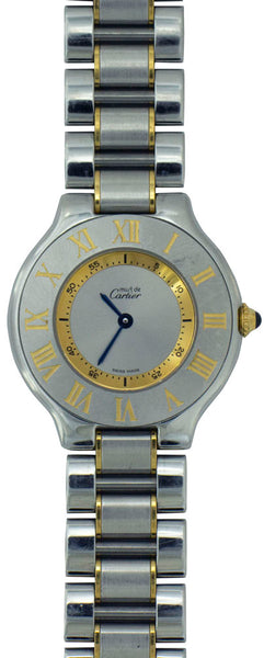 CARTIER Must de Cartier 21 Stainless Steel & 18K Yellow Gold