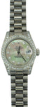 Rolex Datejust 10point Diadmond Dial President 18k white gold