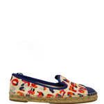 Fendi Graffiti Junia Roma Canvas Espadrille Flats