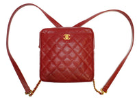 Chanel Red Caviar Backpack