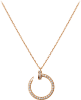 JUSTE UN CLOU NECKLACE PINK GOLD,DIAMONDS