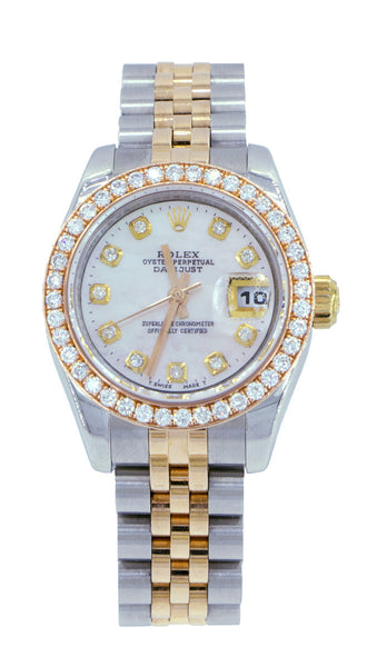 Rolex Lady Datejust 26mm Everose Fluted Two-Tone