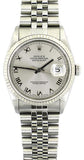 Rolex Datejust 36mmStainless Steel White Roman Dial.