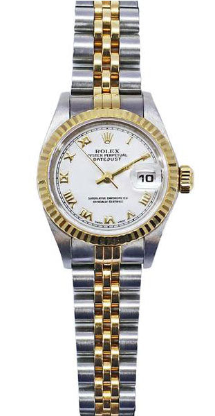 Rolex 26mm white dial Roman Number