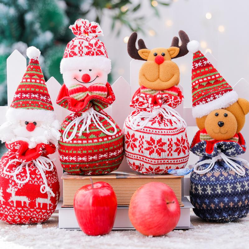 Cute Christmas Gift Bags Festival Decoration