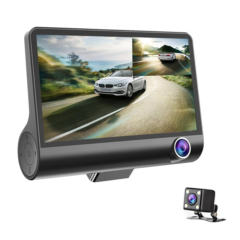 3 Lens Waterproof Wide Angle Car DVR Dash Camera