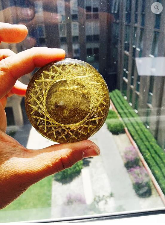 Golden Orgonite EMF Transducer 21 Vortex
