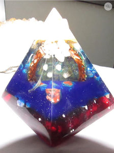 Mahakala Orgonite Glowing Pyramid Circut Board