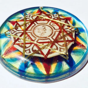 Om Mani Padme Hum Double Hexagram Quantic Resonator Circuit Board