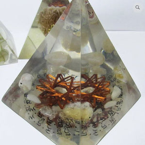 White Tara Mantra Citrine 12 Vortex Pyramid EMF Protection