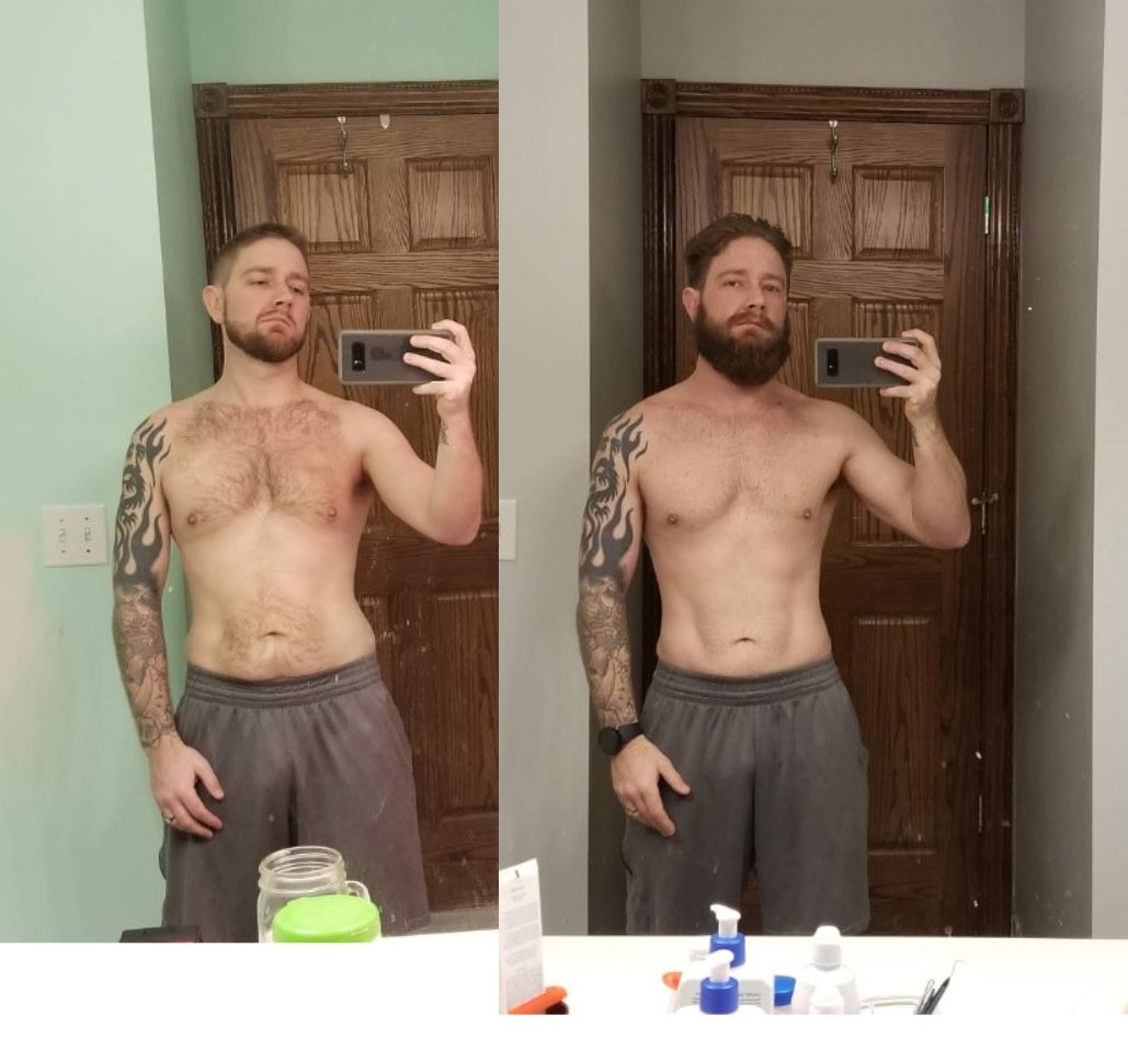 Dexa scan body fat 1 year comparison