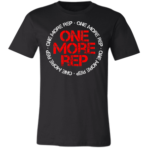 Get fit living one more rep fitness health workout gym apparel for athletics one more rep tee shirt t-shirt tshirt