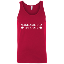 Load image into Gallery viewer, Make America Fit Again MAGA Make America Great Again Fitness Free Lose Weight Bodybuilding weight lose gym life gete fit get.fit.living get fit living @get.fit.living @GFL_Colton athletics apparel fitness motivation inspiration performance muscle tank top tank shirt tee tshirt t-shirt gear